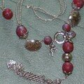 collier boules rouge