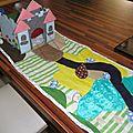 tapis de jeu chateau en feutrine fait main foldingo, handmade fold and go felt castlel play mat (2)
