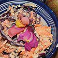 Coleslaw au fromage blanc de chèvre et miel au sommet du tuchenn gador