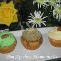 Cupcakes personnalisés de mamounette85 aux couleurs variées