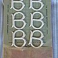 Monogrammes anciens à broder sur sa carte d'origine.