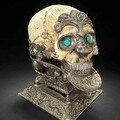 A silver-mounted ceremonial Skull Bowl (kapala mandala) - Tibet or Nepal, 19th Century
