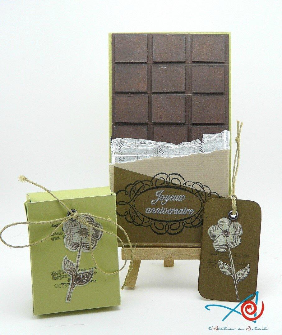 Carte en chocolat / Chocolate card