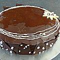 Entremet chocolat noir spéculoos