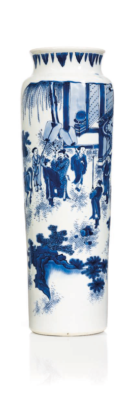 A blue and white vase, 17th century