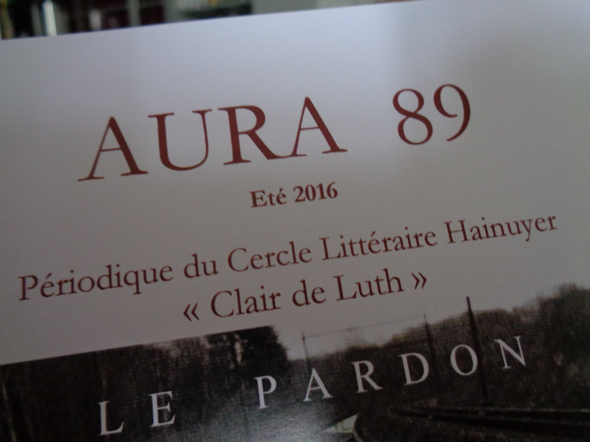 """Aura 89, la revue du Cercle Littéraire Hainuyer """"Clair de Luth"""" est disponible!"""