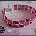 Bracelet en peyote miyuki roses et dégradés