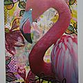 Canvas : le flamand rose