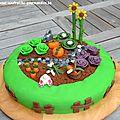 Gâteau « Petit potager » aux pépites de chocolat