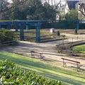 Bancs au jardin régulier d'Horticulture du Mans