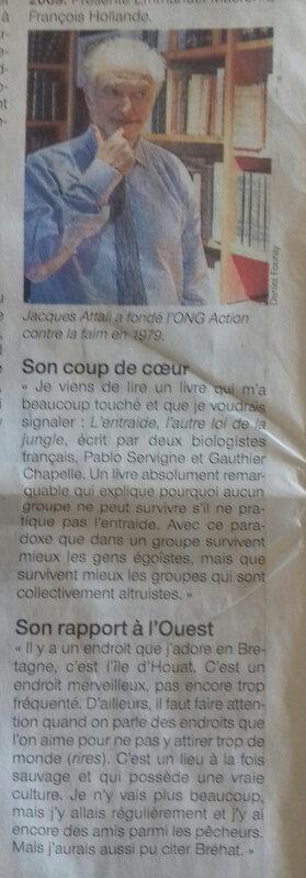 Jacques ATTALI se vautre dans OUEST FRANCE et se compromet en flattant le SEPARATISME BRETON!