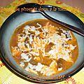 Chiles con queso (soupe de piments doux a la mozzarella)