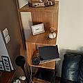 Etagere moderne de salon en chêne