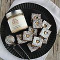 Biscuits au cacao et pâte à tartiner aux amandes