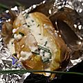 Pommes de terre à la crème de feta et ciboulette