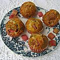 Muffins rhubarbe et fromage