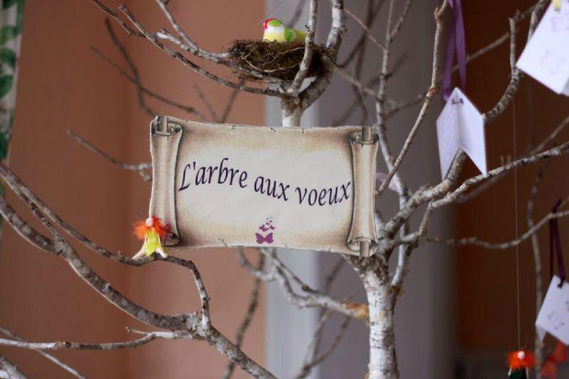 B-Mariage thème Fées arbre aux voeux 2