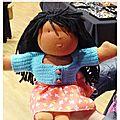 Première poupée réalisée à partir de mon kit