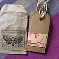 Lot de 4 tags en kraft
