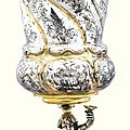 A large german parcel-gilt silver cup and cover, gödert bodtstede, hamburg, 1664-1670