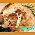 Langoustines gratinees aux champignons.