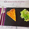 Tarte rustique carottes, poulet & feta