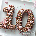 ▼▲ Happy 10 ▼▲ Number Cake Moelleux et Décos▼▲ Birthday Licorne <b>Girly</b>
