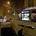 Station La Fourche Ligne 13, avenue de Saint-Ouen dans le 17ème.