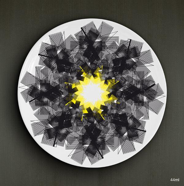 Zaya inruche (D1), porcelaine D.26cm / 22,00€ l'unité