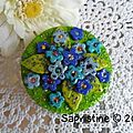 Broche *forget-me-not*