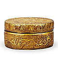 A Parcel-Gilt <b>Stone</b> Box And Cover, Liao Dynasty, 907-1125