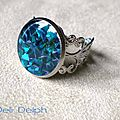 bague abalone turquoise'