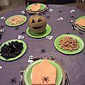 Déco de table d'halloween 2012