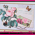 <b>Carte</b> 3D shabby - Post card