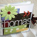 Thomas ... mini album atelier octobre scrapmemory