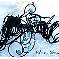 Tour de bras Country Noir turquoise