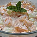 Salade de melon charentais, concombre et yaourt