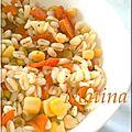Ebly au maïs et poivrons rouges grillées