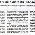 Intégralité de la plainte déposée par l'avocat patrice charles contre les candidats lr- dvd 3eme circo en vendée