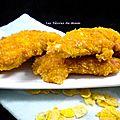 Aiguillettes de poulet panées aux corn flakes (recette sans gluten)