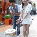 Angela Chang and <b>Show</b> Luo film ice cream ad in icy weather