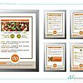Delizius pizza : affiches menu