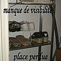 Rangement vertical pour chaussures...home made