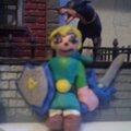 Link héros de Zelda en pâte à modeler