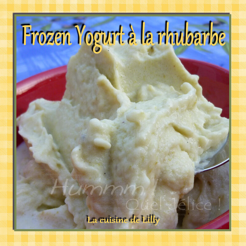frozen yogurt rhubarbe
