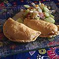 Empanadas maison où celui qui se mangeait bien avec une salade.