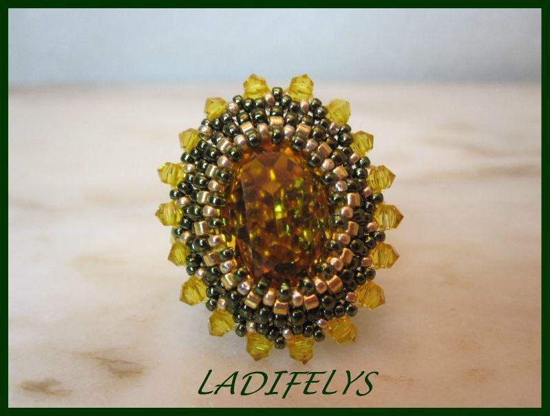 738a bague Josephine de Sereine sunflower et vert