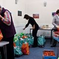 Festive food parcels....the team in action