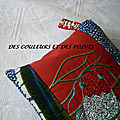 trousse carpe japon detail broderie