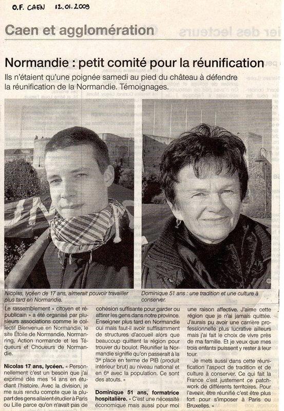 SOUVENIRS, souvenirs… Lorsque nous n'étions qu'une poignée à braver l'hiver pour défendre l'UNITE NORMANDE